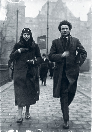 Trien and husband Bart de Haan, Amsterdam 1932