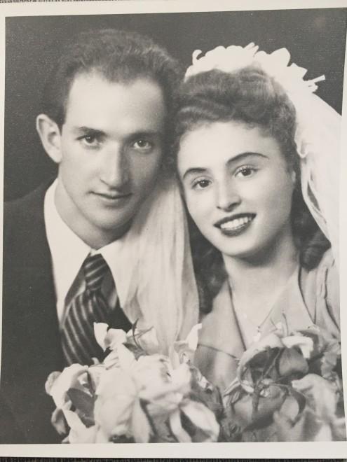 Bröllopsbild Lola och Jakob Sylman 1949