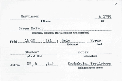 Svenn-registration-card
