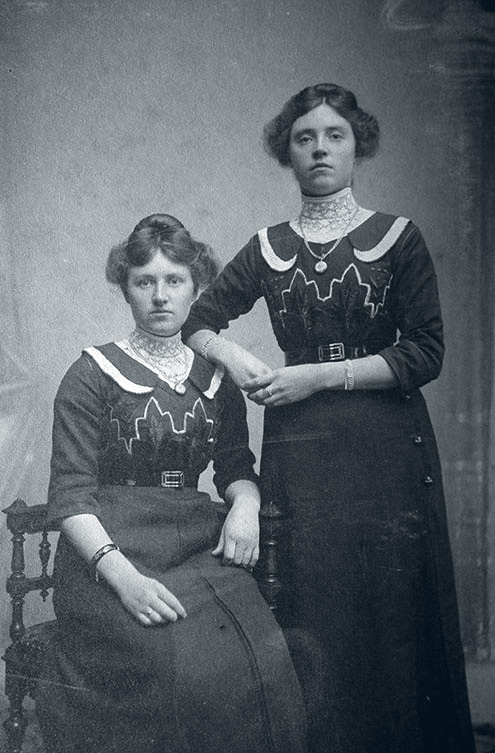 Trien and sister (Bart Lancaster's grandmother) 1908